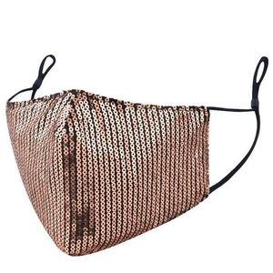 Gold Sequin Face Mask with Adjustable Straps